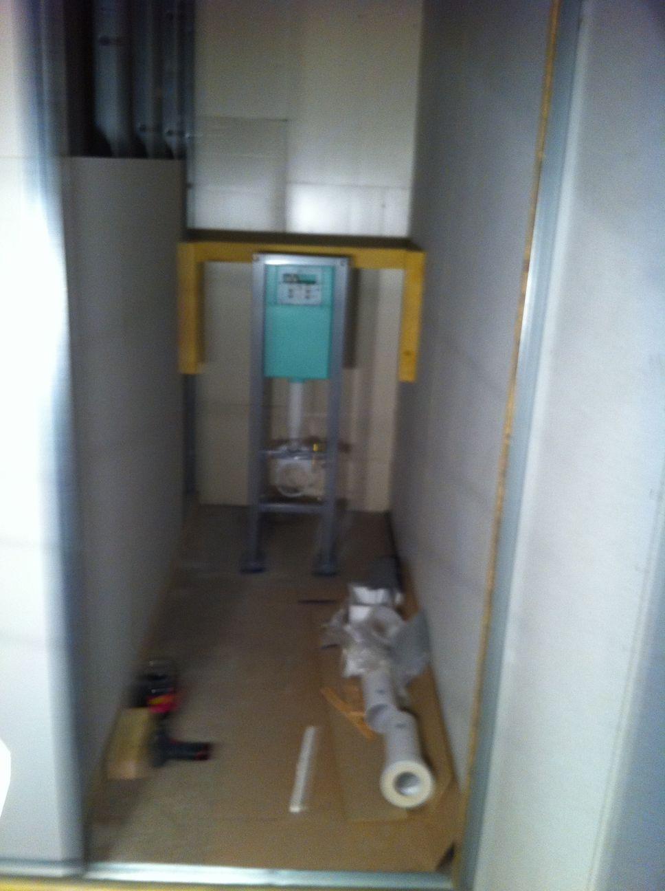 Salle de bains wc du rdc c est parti blog maison - Laine de verre cloison 45 ...